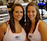 Photo:  Two pretty sisters at Xtreem machines