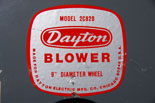 photo:  blower label