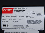 photo:  motor label