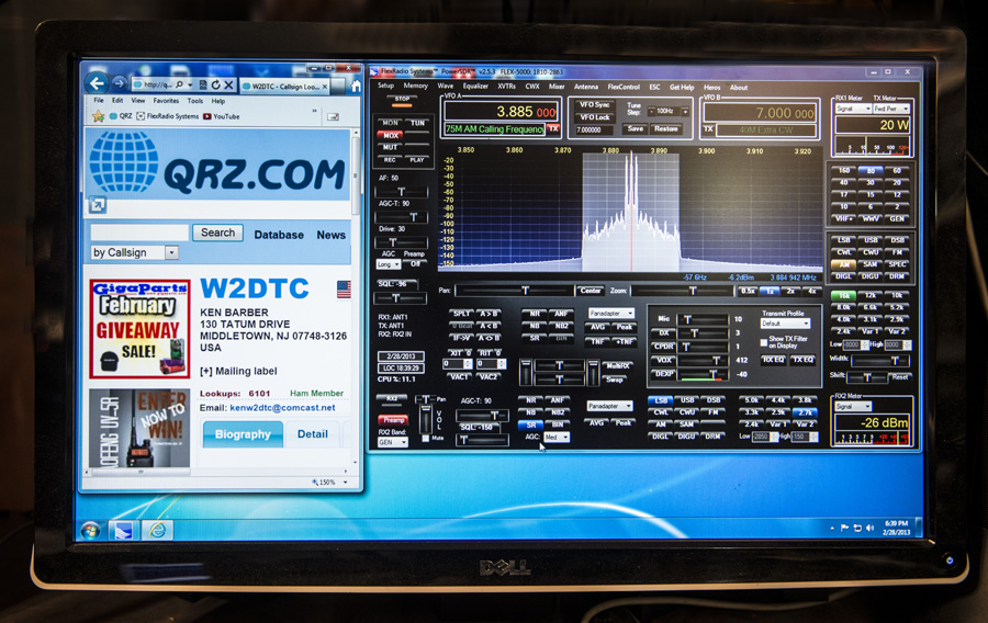 W2DTC Flex Radio Station Equipment