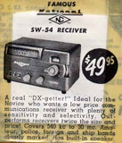 photo: magazine ad for National SW-54 receiver